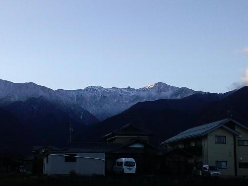 駒ヶ岳冠雪