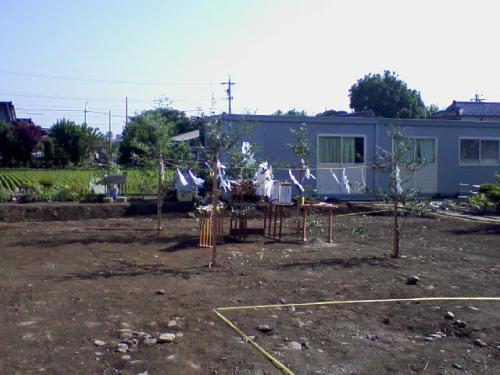 建売の地鎮祭