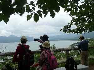 2011.06.22唐津城から海岸線を望む