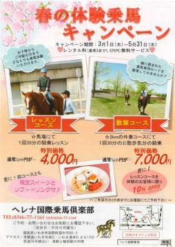 ヘレナ春の体験乗馬