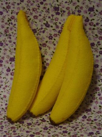 フェルト手芸 バナナ 2
