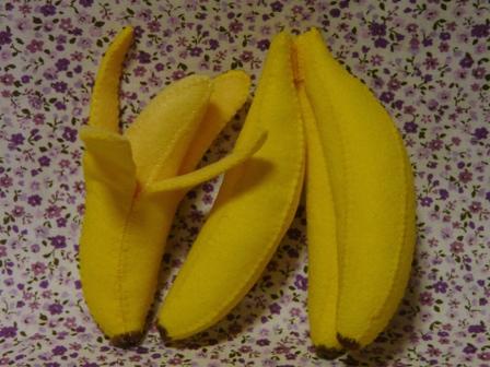 フェルト手芸 バナナ 3