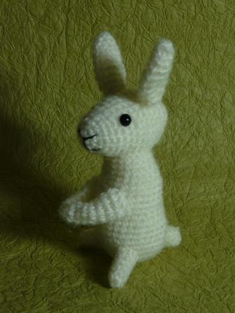 あみぐるみ 白ウサギ