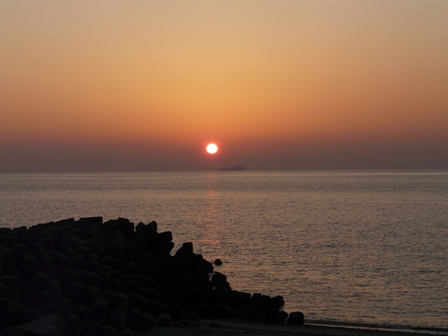 塩屋海岸 夕景 1