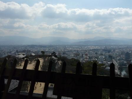 松山城 11  天守閣からの眺め