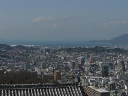 松山城 12  天守閣からの眺め