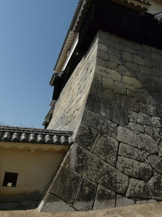 松山城 15  本壇の石垣