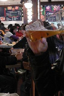 ビール満喫中