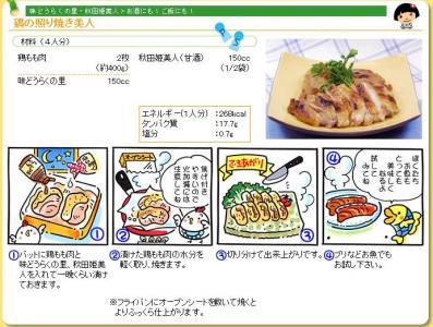 鶏の照り焼き美人レシピ