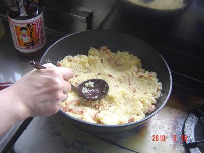 ⑩ご飯を炒める3