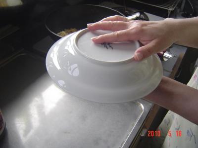 ⑬炒飯の盛りつけ2
