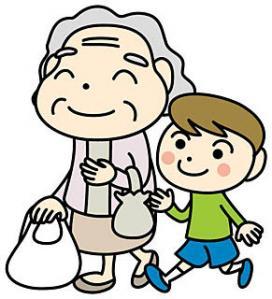 ⑥お婆さんと買い物
