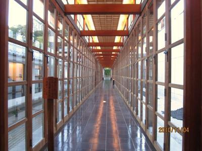 強羅花壇さん・120㍍の柱廊空間