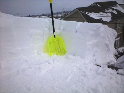 屋根の積雪①