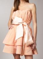 ピンクリボンドレス