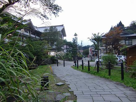 清津渓谷の温泉街
