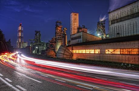 日新製鋼呉製鉄所高炉の夜景