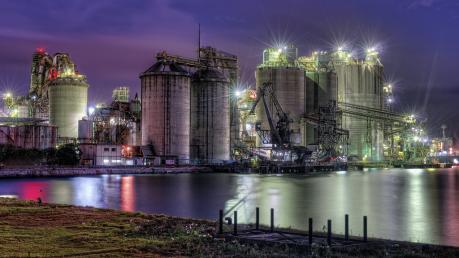 三菱マテリアル九州工場の夜景
