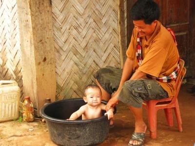 お風呂の時間@ルアンナムター