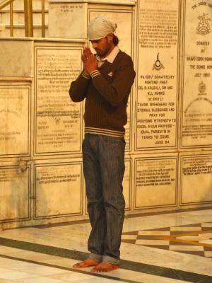 祈りの姿@アムリトサル