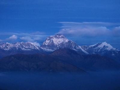 夜明け前の丘で②@アンナプルナ・トレッキング