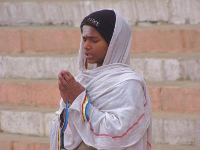 祈りの表情@バラナシ