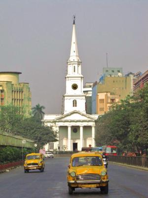 黄色タクシーの走る街@コルカタ