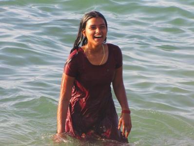 海水浴タイム④@カニャークマリ
