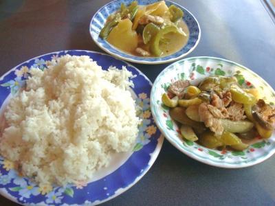 カンボジア的惣菜&ライス③