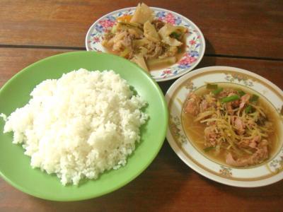 カンボジア的惣菜&ライス②