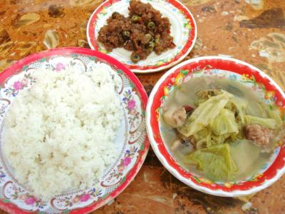 カンボジア的惣菜&ライス①