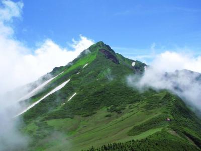 雲上の利尻富士