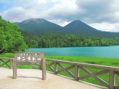 森の奥の湖@オンネトー