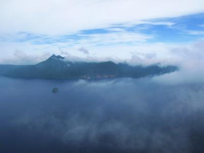 霧に包まれていく…@摩周湖