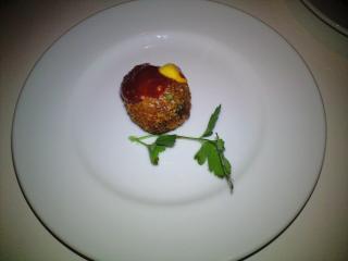 カボチャとモッツァレラチーズのアランチーニ