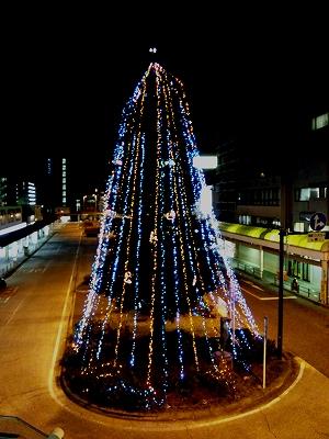 淵野辺駅のイルミネーション20111204