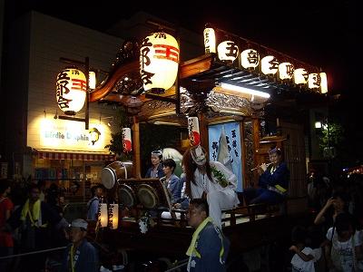 上溝夏祭り・山車3-20110723