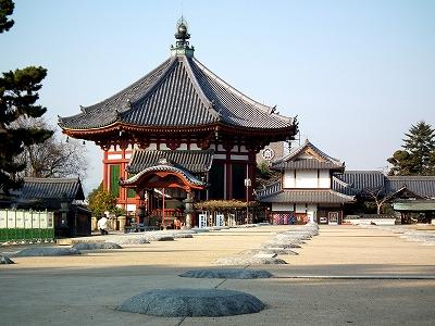 興福寺南円堂と中金堂礎石20111229