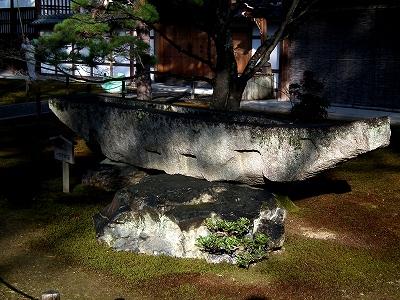 鹿苑寺舟形石20111230