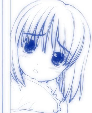 お休み少女01b