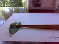 葉っぱの箸置き