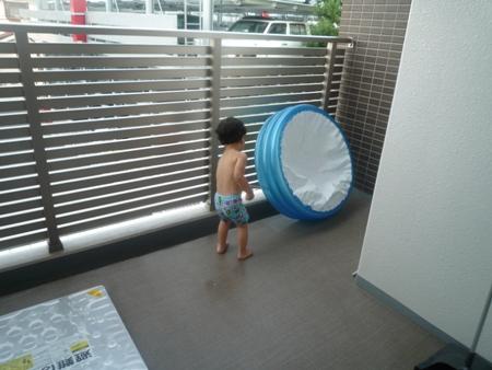 プール後のお掃除