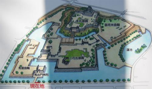 小田原城俯瞰図