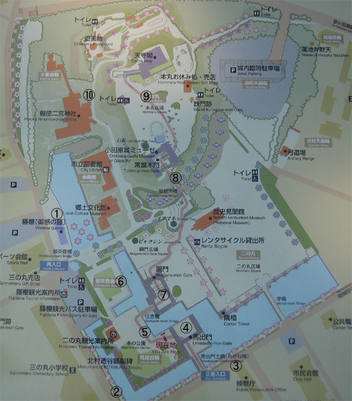 小田原城地図