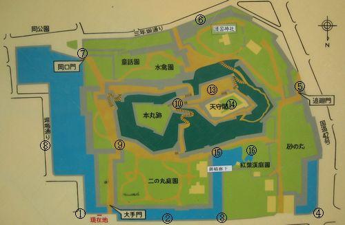 和歌山城地図