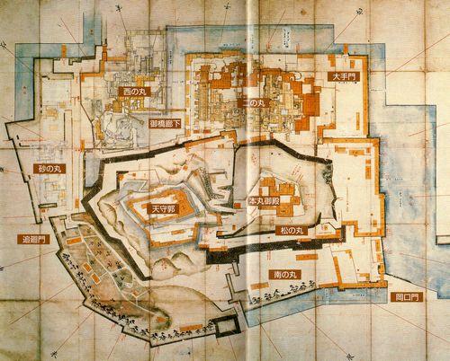 和歌山城古地図