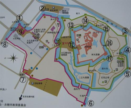 赤穂城地図
