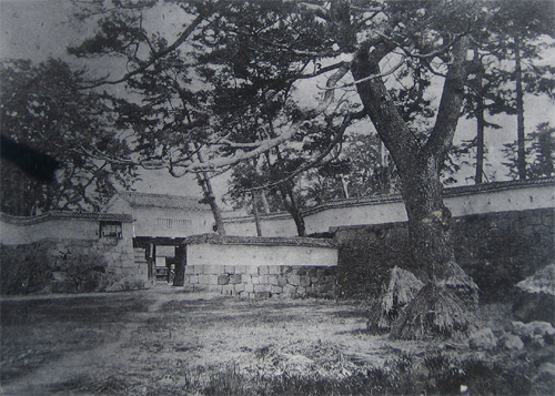 赤穂城二の丸門古写真