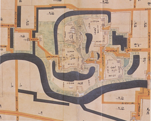 掛川城古地図