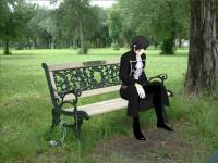 ベンチ座り
